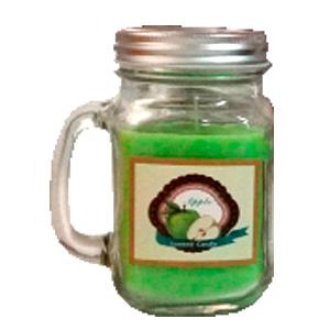 Tarro con vela aroma a manzana verde de 13x7.5cm