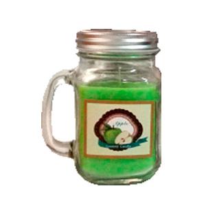 Tarro con vela aroma a manzana verde de 8x5cm