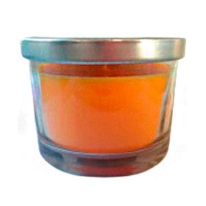 Vaso c/vela aroma naranja de 6.5x7cm