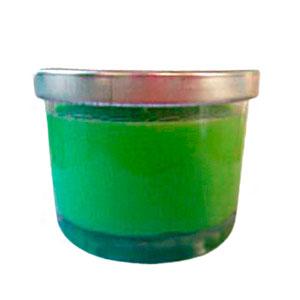 Vaso c/vela aroma manzana verde de 6.5x7cm