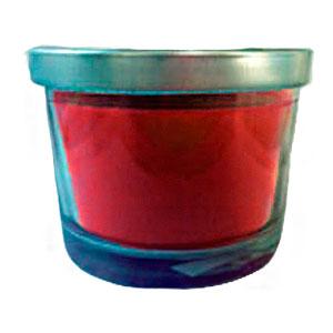 Vaso c/vela aroma a frambuesa de 6.5x7cm