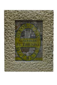 Portarretrato de plástico beige diseño estrellas de 13x18cm