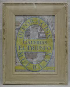 Portarretrato de plástico diseño madera beige de 13x18cm