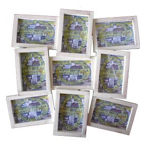 Portarretrato de plástico de pared p/9 fotos de 23x13cm