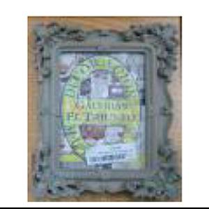 Portarretrato de plastico gris c/grecas de 13x18cm