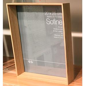 Portarretrato de madera beige de 10x15cm