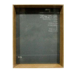 Portarretrato de madera café de 20x25cm