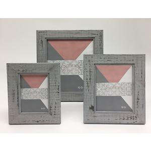 Portarretratos de madera gris de 10x15cm