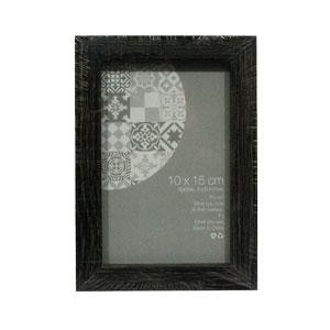 Portarretratos de madera negro de 10x15cm