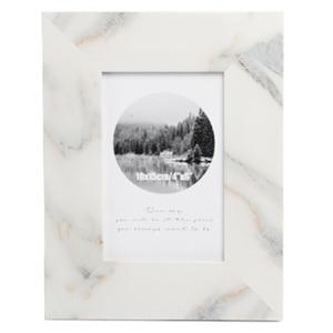 Portarretratos de madera diseño mármol de 10x15cm