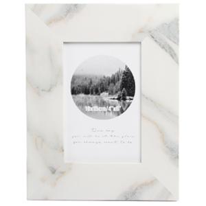 Portarretratos de madera diseño mármol de 20x25cm