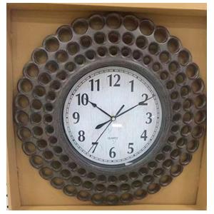 Reloj de plastico diseño círculos cafés de 45x45x5cm