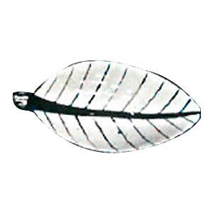 Bowl de cerámica blanca con líneas azules diseño hoja