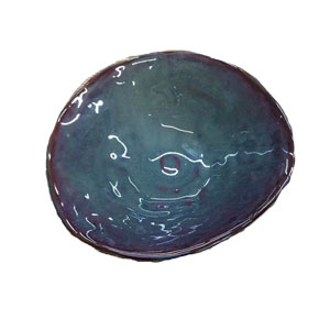 Bowl de cerámica azul