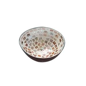 Bowl diseño incrustaciones de conchas blancas