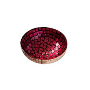 Bowl diseño incrustaciones de concha rojos