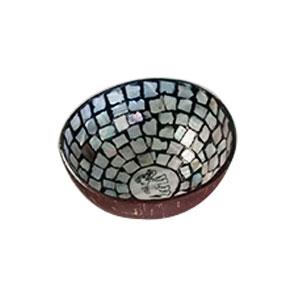 Bowl diseño incrustaciones de concha gris con elefante