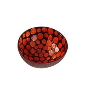 Bowl diseño incrustaciones de concha naranja