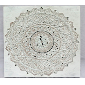Cuadro con diseño flores de 76x76x4cm