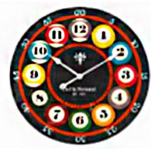 Reloj de pared diseño bolas de billar de 57cm