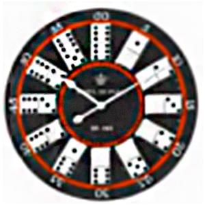 Reloj de pared diseño domino de 57cm