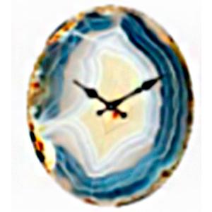 Reloj de pared diseño cuarzo azul de 32X39cm