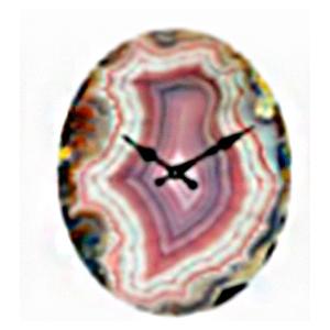 Reloj de pared diseño cuarzo morado de 32X39cm