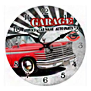 Reloj de pared diseño carro rojo de 30cm