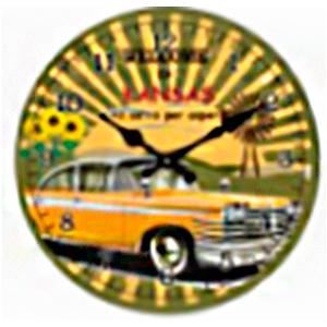 Reloj de pared diseño Taxi amarillo de 30cm