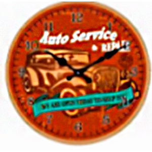 Reloj de pared diseño letrero de autoservicio en color rojo de 30cm
