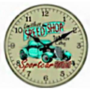 Reloj de pared diseño auto verde de 30cm