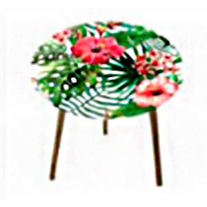Mesita de café diseño flores de 40cm