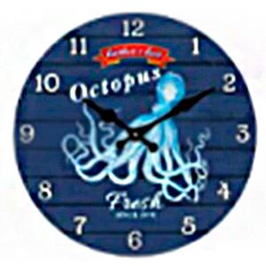 Reloj de pared diseño Pulpo de 30cm