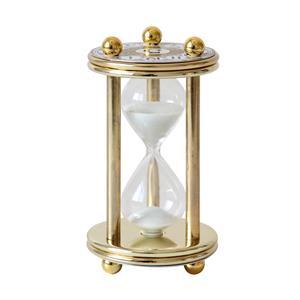 Reloj de arena de 5 min. base de metal dorado de 12cm