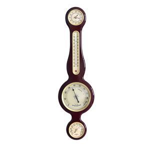 Reloj de madera para pared c/brujula, idometro y termometro