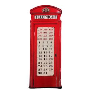 Decoración de pared diseño Cabina telefónica de Londres de 75x30x0.61cm
