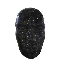 Rostro humano negra craquelada p/ pared