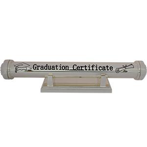 Tubo de metal con base para certificado de Graduación de 24x3.5x3.5cm