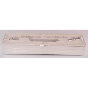 Caja de metal para certificado de Graduación de 24x5x5cm