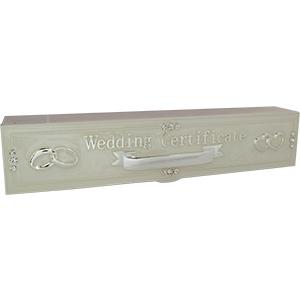 Caja de metal para certificado de matrimonio de 25x5x5cm