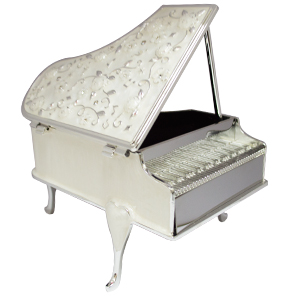 Caja de metal musical diseño Piano de 14x10x9cm