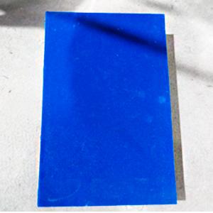 Juego de 2 cajas portalibros en azul terciopelo de 33x22x7/27x18x7cm