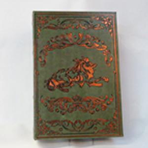 Caja portalibros diseño Vintage verde de 30x21x7cm