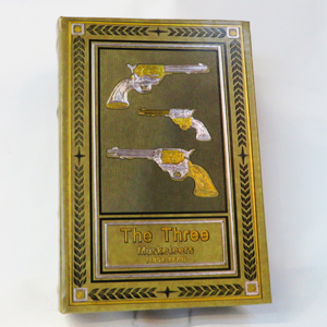 Caja portalibros diseño Pistolas de 30x21x7cm