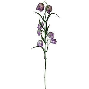Vara con flores campanita moradas