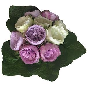 Ramo de rosas moradas con blanco