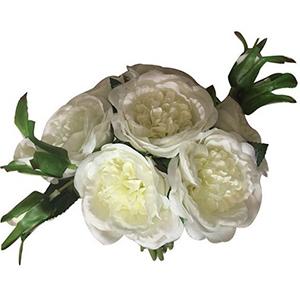 Ramo de rosas blancas con boton