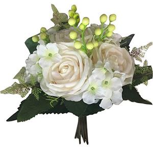 Ramo de Rosas Blancas con follaje