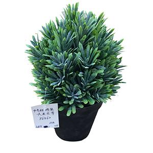 Maceta con flor verde talqueado