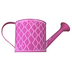 Regadera de lamina rosa con rombos